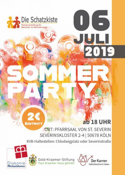Schatzkiste Bonn Sommerparty