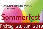 Einladung zum BeWo-Sommerfest
